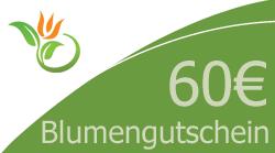 Blumenstrauss 60 Euro Blumengutschein