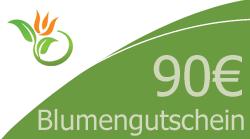Blumenstrauss 90 Euro Blumengutschein