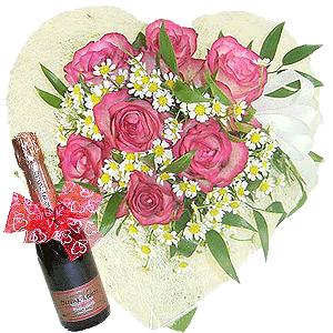 Blumenstrauss Herzlichkeit und Champagner
