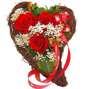 Blumenstrauss Herzdrücken