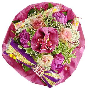 Blumenstrauss Naschkatze Mädchen