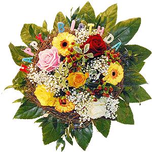 Blumenstrauss Happy Birthday