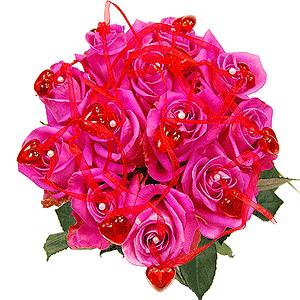 Blumenstrauss Valentinstag Think Pink