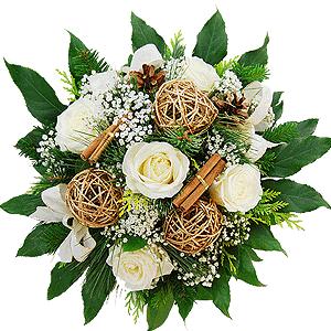 Blumenstrauss Blumenstrauß Weiße Weihnacht