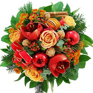 Blumenstrauss Blumenstrauß Weihnachtstrauß