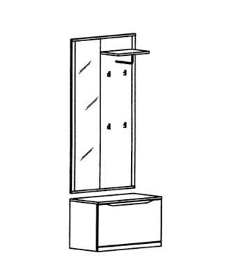 Paso Garderoben Set 12 - Kernbuche