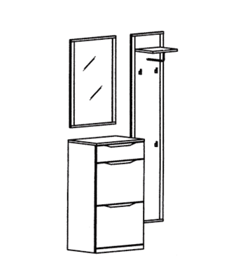 Paso Garderoben Set 6 - Kernbuche