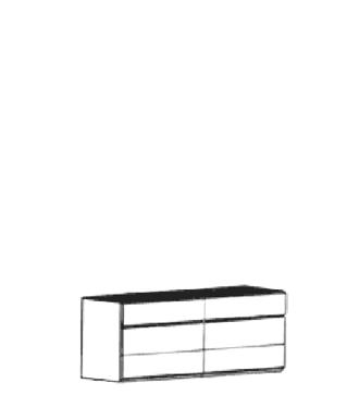 Carat Dielenschrank Typ 847 - hängend - Weiß