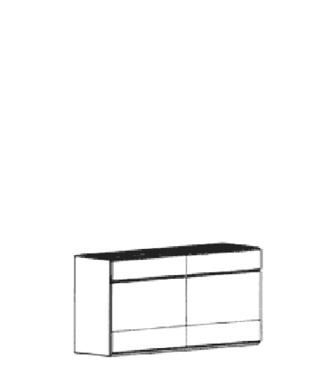 Carat Dielenschrank Typ 867 - hängend - Weiß