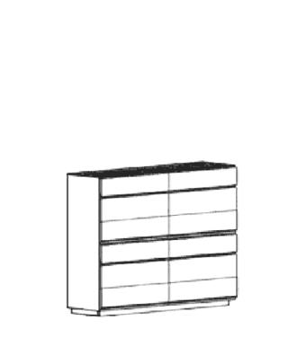 Carat Dielenschrank Typ 844 - Weiß