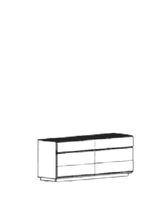 Carat Dielenschrank Typ 846 - Weiß