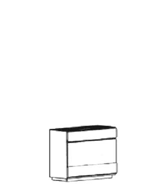 Carat Dielenschrank Typ 863 - Weiß
