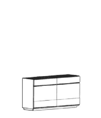 Carat Dielenschrank Typ 866 - Weiß