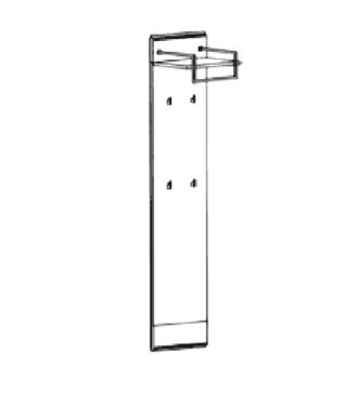 Carat Garderobenpaneel Typ 512 - Weiß