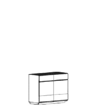 Carat Dielenschrank Typ 886 B - Weiß