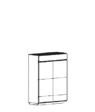 Carat Dielenschrank Typ 898 B - Weiß