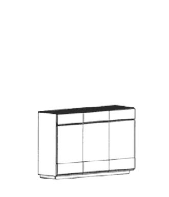 Carat Sideboard Typ 890 - Weiß