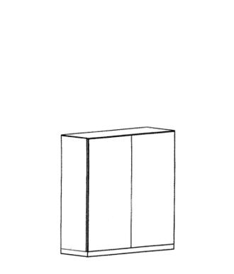 Cade Dielenschrank Typ 380 - Basalt