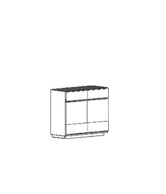 Cosima Dielenschrank Typ 886B - stehend