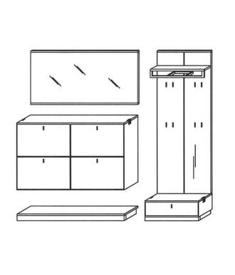 Vado Garderoben Set 8