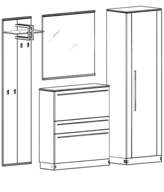 Talis Garderoben Set 1
