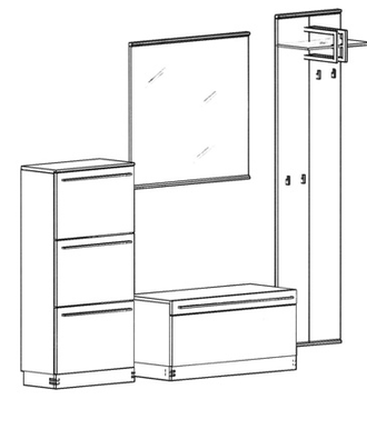 Talis Garderoben Set 4