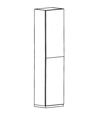 Cade Mehrzweckschrank Typ 110 L - Basalt