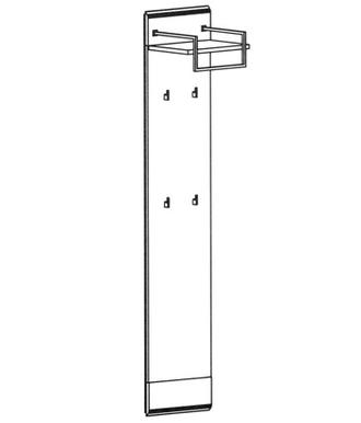 Cosima Garderobenpaneel Typ 512