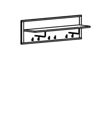 Paso Garderobenpaneel Typ 550 - Kernbuche