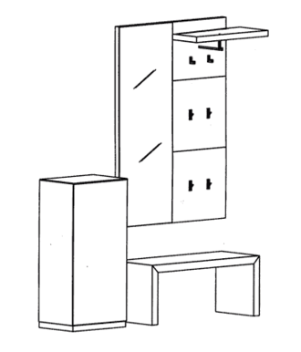 Cade Garderoben Set 10 - Basalt