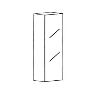 Cade Aufsatzschrank Typ 100 L - Basalt