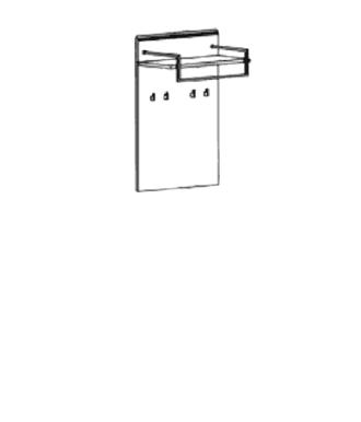 Carat Garderobenpaneel Typ 516 - Granit