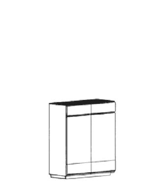 Carat Dielenschrank Typ 896 B - Granit