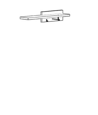 Cade Garderobenpaneel Typ 515 - Granit