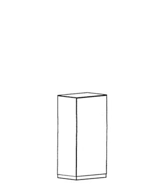 Cade Dielenschrank Typ 370 L - Granit