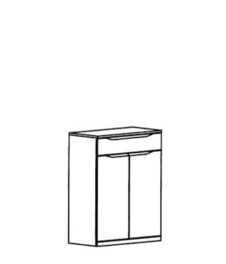 Paso Dielenschrank Typ 898 - Kernbuche