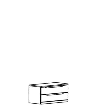 Paso Schubkastenteil Typ 802 - Kernbuche