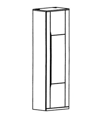 Paso-Hochschrank Typ 100 - Weiß