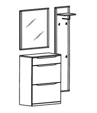 Paso Garderoben Set 1 - Weiß