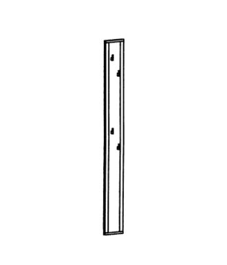 Paso Garderobenpaneel Typ 500 - Weiß