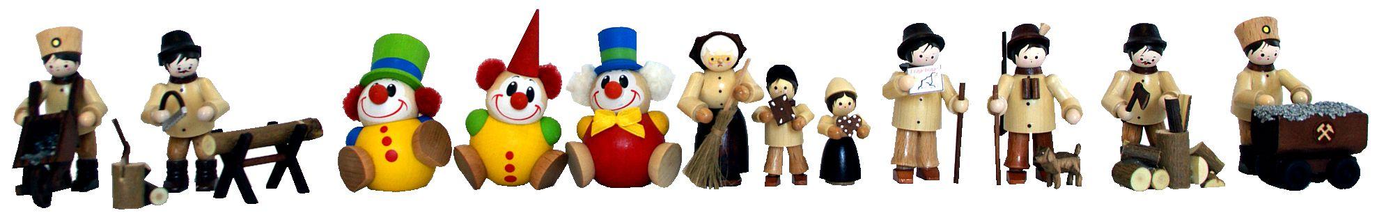 Ganzjahres-Holzfiguren aus dem Erzgebirge