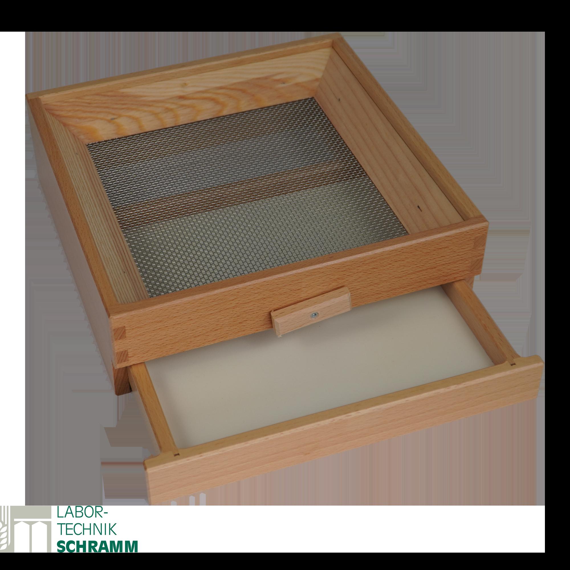 Käfersieb mit herausnehmbarer Schublade 25 x 25 cm