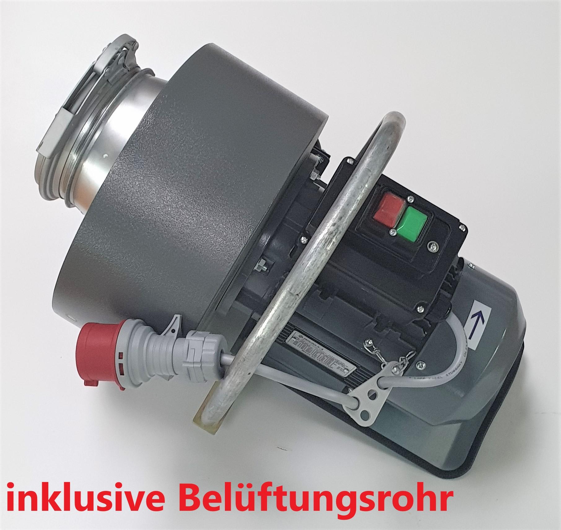 Belüftungsrakete Teyfun 1,5 KW mit Rohr und elektr. Verkabelung