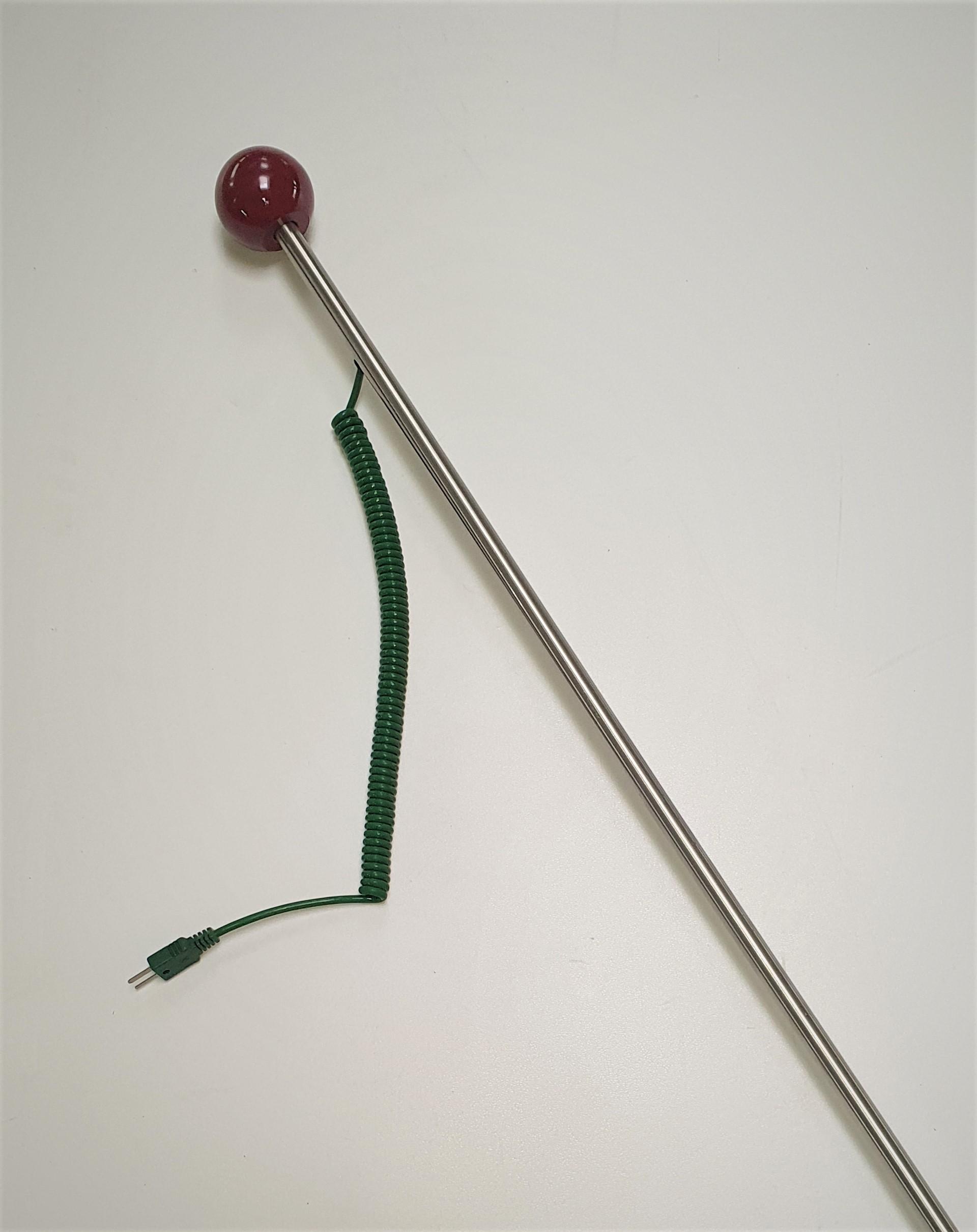 Einstechfühler mit Knauf Edelstahl 1,0 m   Durchmesser  12 mm