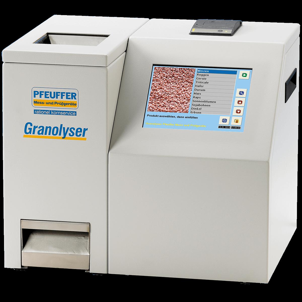 Granolyser NIR Analyse mit intgriertem Drucker