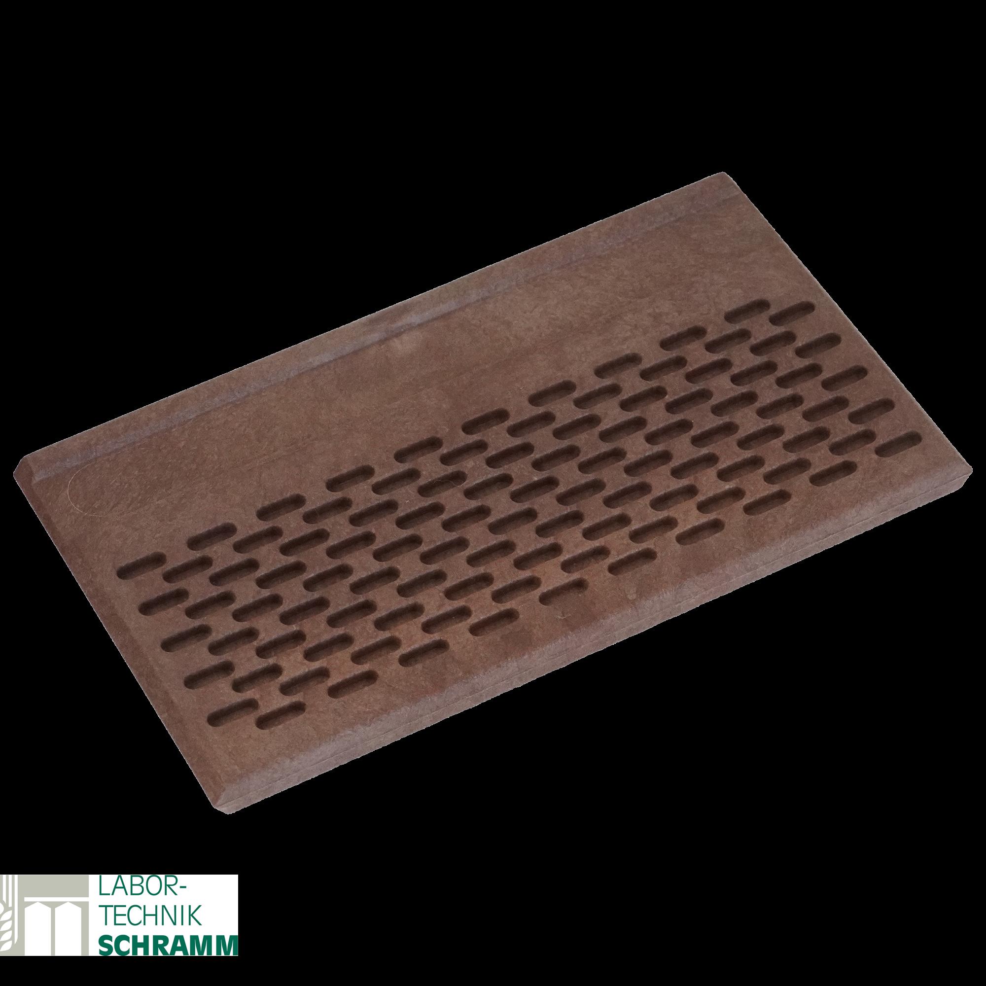 Körnerzählbrett aus Kunststoff 16x9 cm  mit 100 Löcher