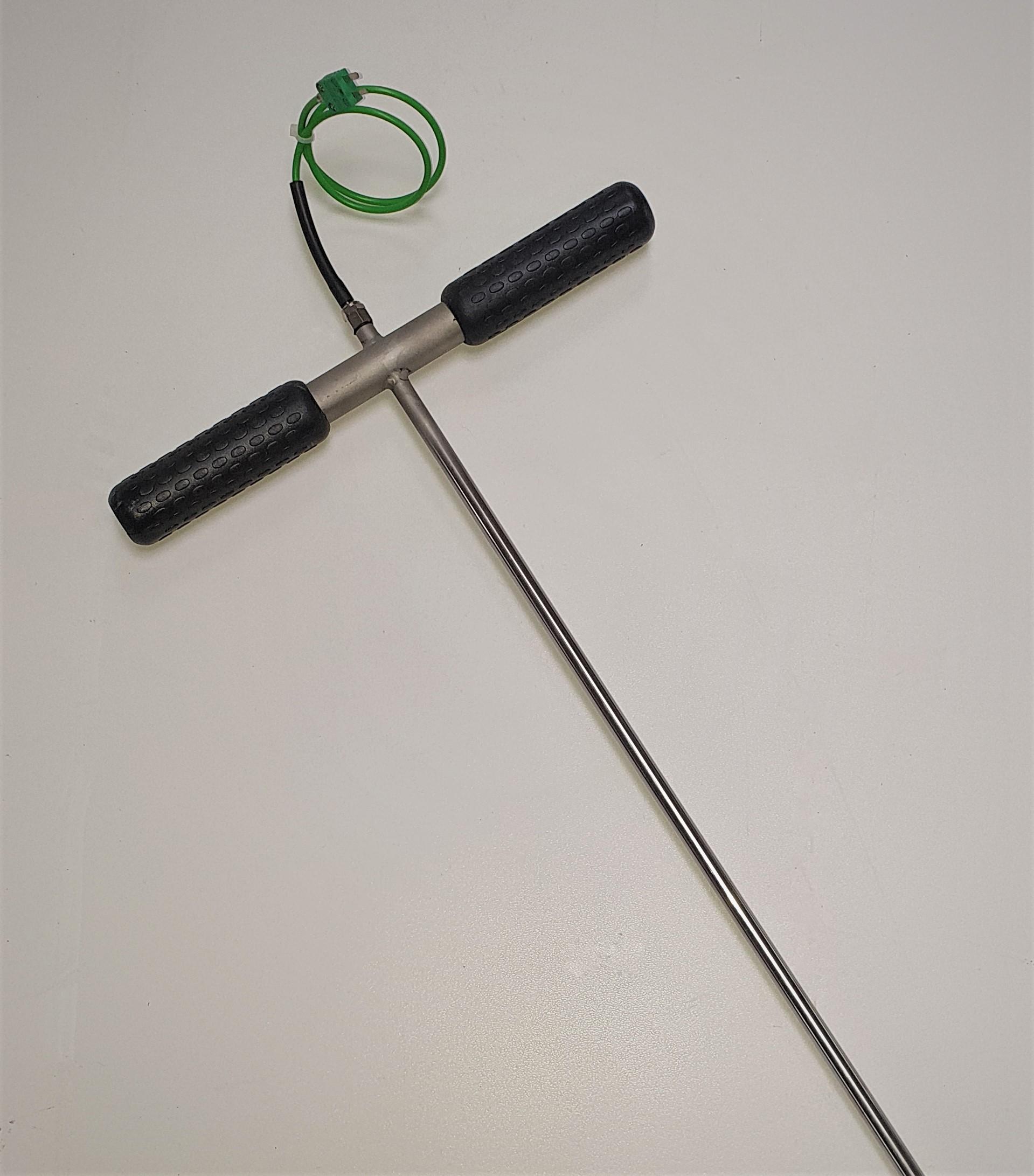 Einstechfühler mit Griff  2,0 m lang    Durchmesser 10 mm