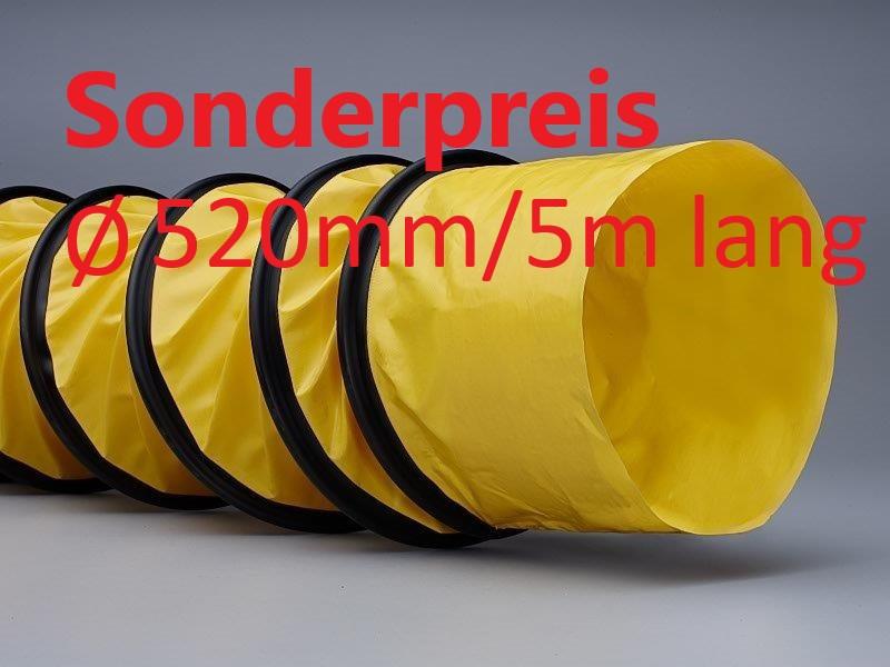 Spiralschlauch Warmluftschlauch Länge 5,0 m / 520 mm Durchmesser