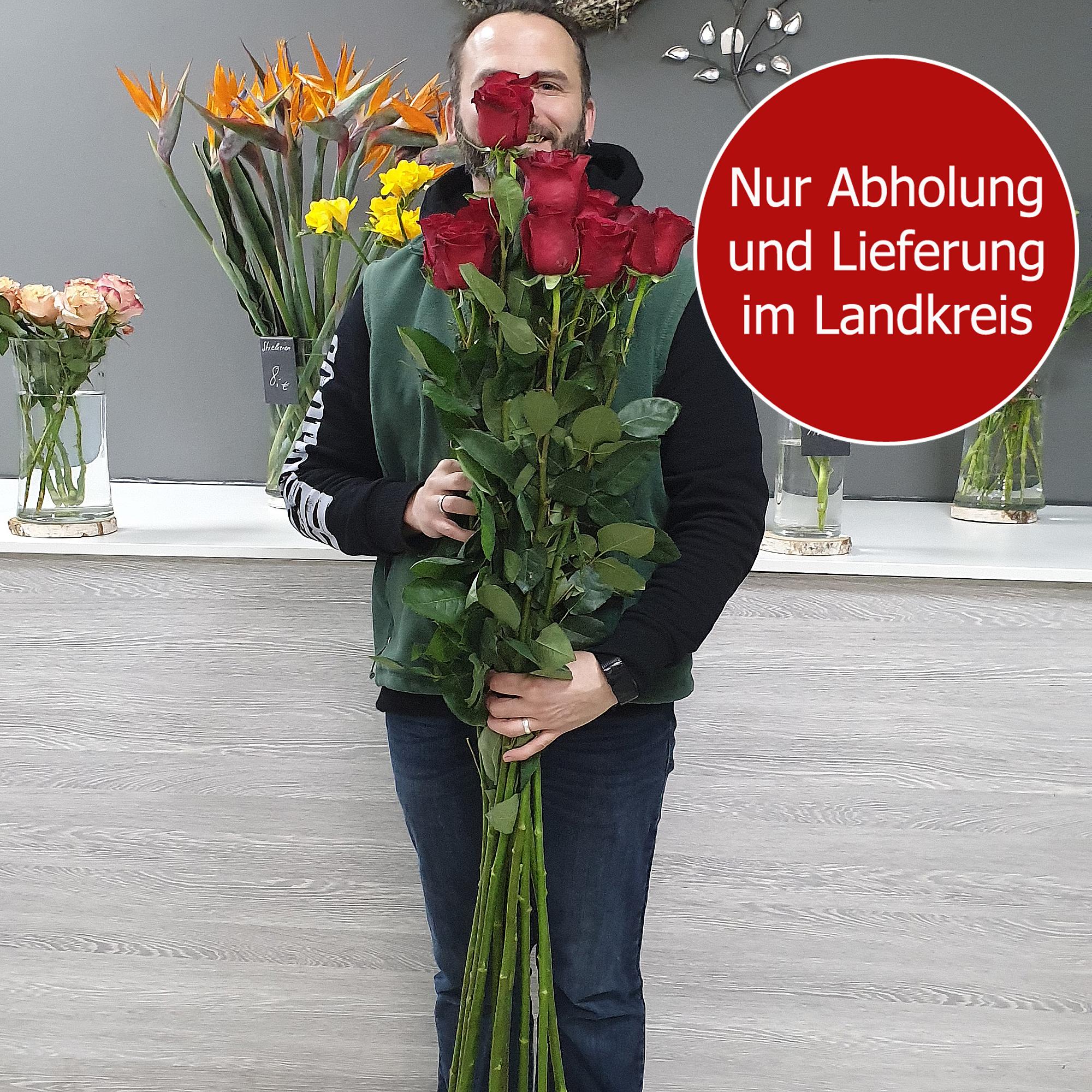 Blumenstrauss Valentinstag Rosen 120cm