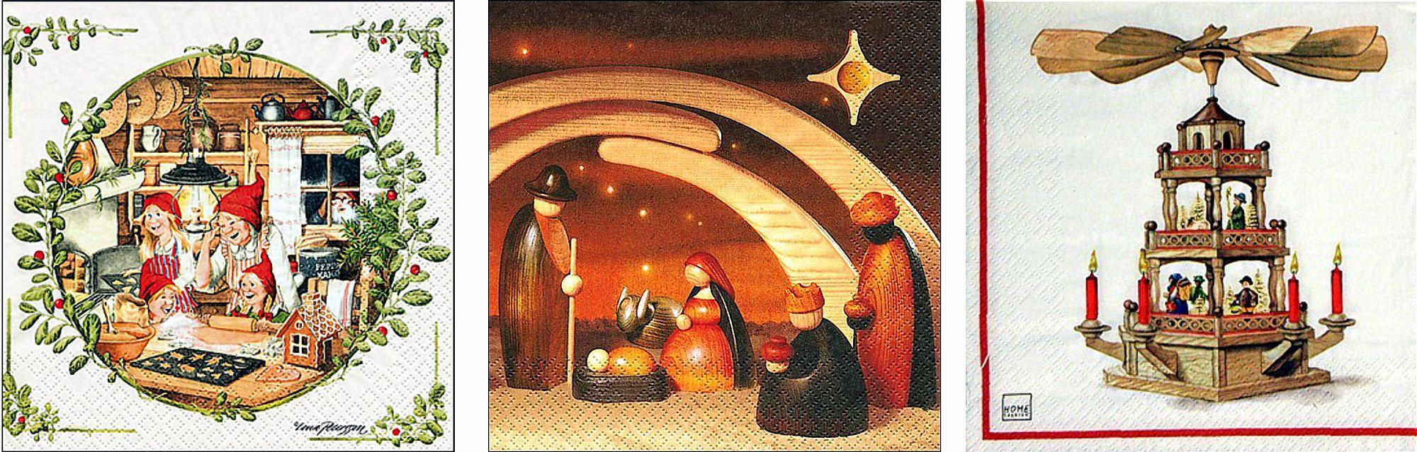 Servietten für Weihnachten